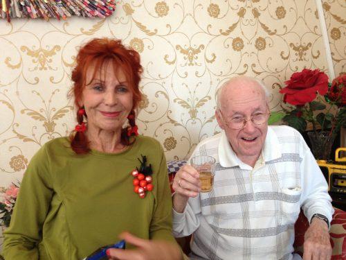 Eddy Christiani met Thea de Zeeuw
